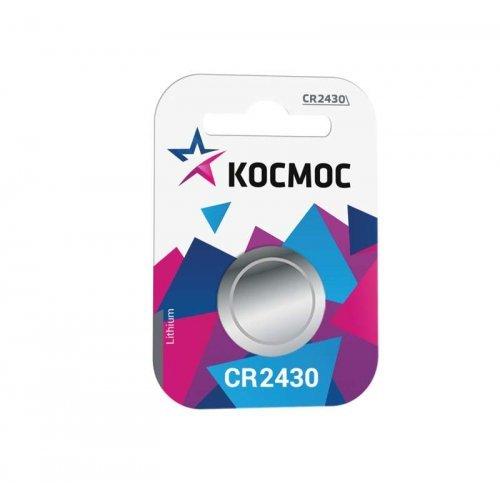 Элемент питания литиевый CR CR2430 1хBL (блист.1шт) Космос KOCR24301BL