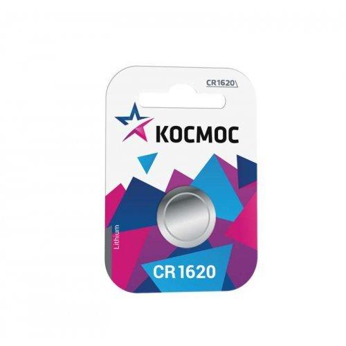 Элемент питания литиевый CR CR1620 1хBL (блист.1шт) Космос KOCR16201BL