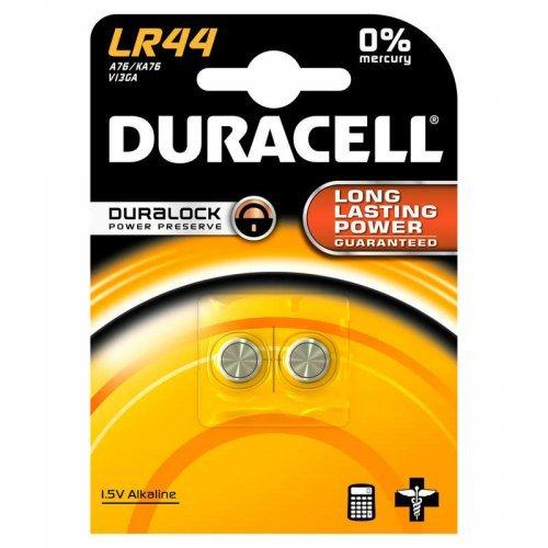 """Элемент питания алкалиновый """"таблетка"""" 1.5В LR44 BP-2 (блист.2шт) Duracell Б0009737"""