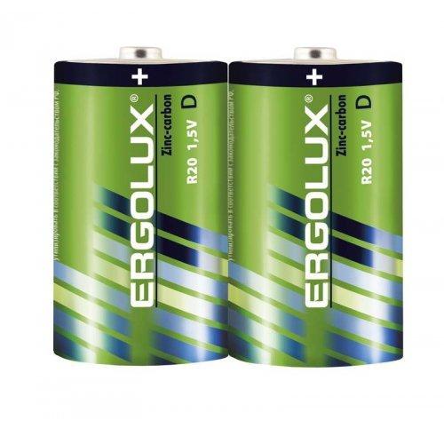 Элемент питания солевой R20 SR2 R20SR2 1.5В (уп.2шт.) Ergolux 12442