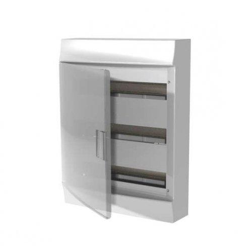 Щит распределительный навесной ЩРн-п Mistral41 54М пластиковый прозрачная дверь с клеммами