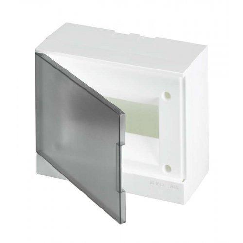 Бокс настенный Basic E 8М сер. прозр. дверь (с клемм) ABB 1SZR004002A2203