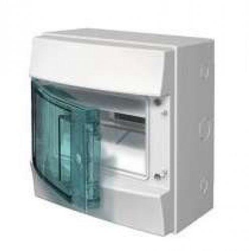 Щит распределительный навесной ЩРн-П-8 пластиковый прозрачная дверь IP65 серый Mistral65 без клемм