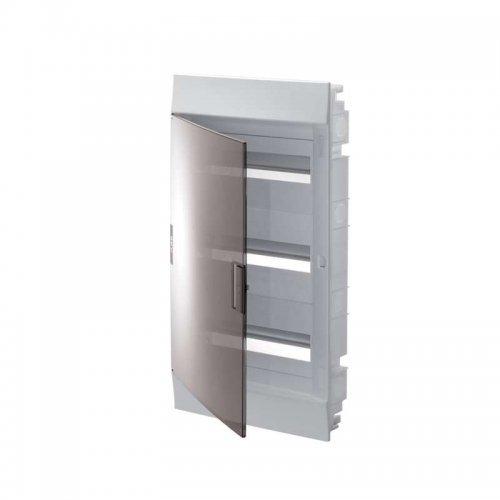 Щит распределительный встраиваемый ЩРв-п Mistral41 36М пластиковый прозрачная дверь 3 ряда с клеммами