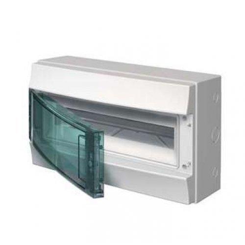 Щит распределительный навесной ЩРн-П-18 пластиковый прозрачная дверь IP65 серый Mistral65 без клемм