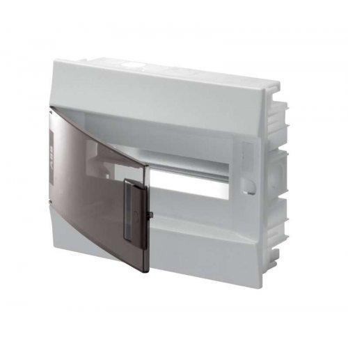 Щит распределительный встраиваемый ЩРв-п Mistral41 12М пластиковый прозрачная дверь с клеммами