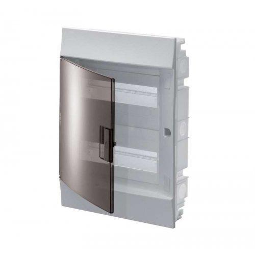 Щит распределительный встраиваемый ЩРв-п Mistral41 24М пластиковый прозрачная дверь с клеммами