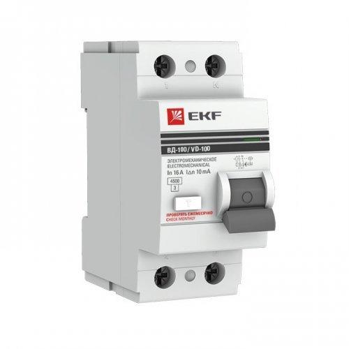 Выключатель дифференциального тока (УЗО) 2п 25А 30мА АС EKF PROxima