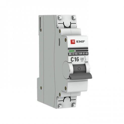 Выключатель автоматический однополюсный 10А С ВА47-63 4.5кА PROxima