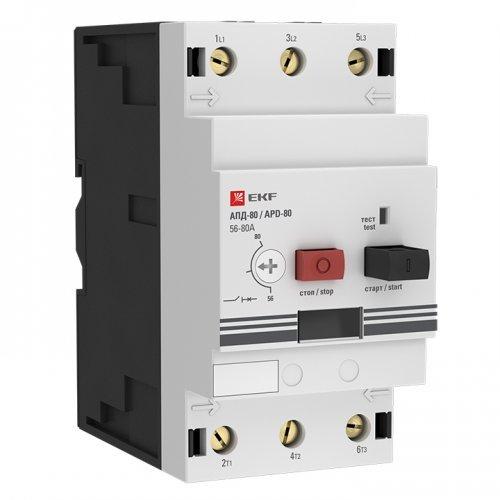 Выключатель авт. защиты двиг. АПД-80 40-63А EKF apd3-40-63