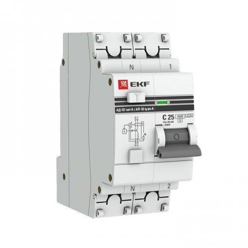 Выключатель автоматический дифференциальный АД-32 2п 16А 30мА PROxima