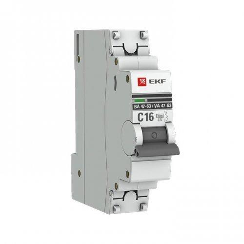 Выключатель автоматический модульный 1п C 10А 6кА ВА 47-63 PROxima EKF mcb4763-6-1-10C-pro