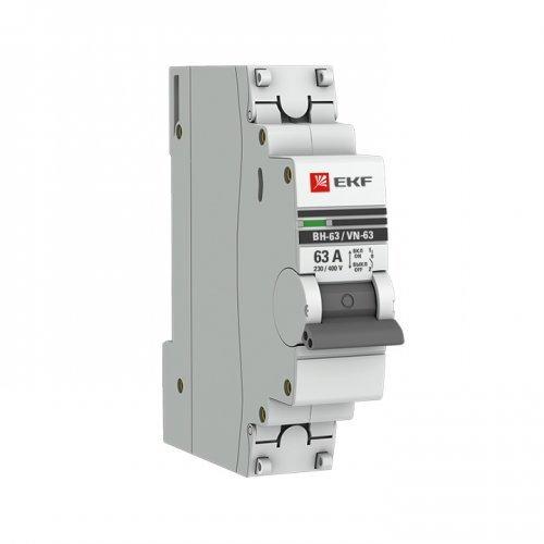 Выключатель нагрузки 1п 63А ВН-63 PROxima EKF SL63-1-63-pro