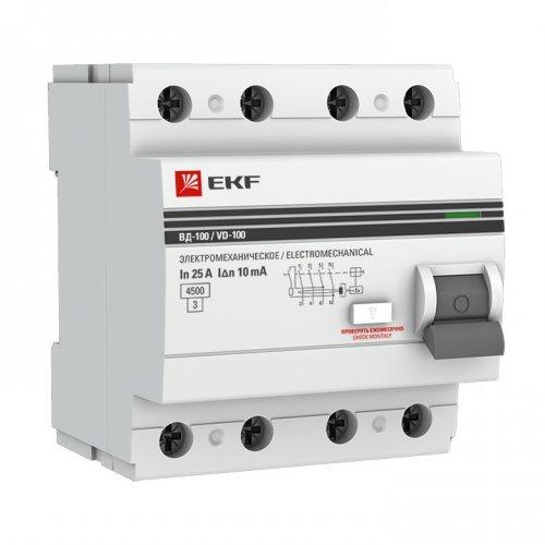 Выключатель дифференциального тока (УЗО) 4п 63А 30 мА АС PROxima