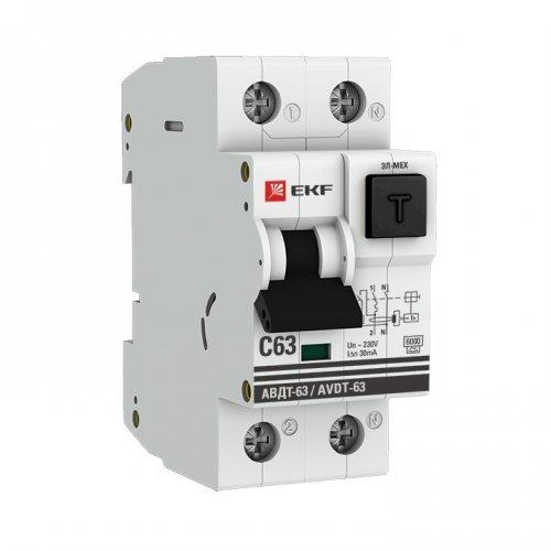 Выключатель автоматический дифференциальный АВДТ-63 2п 16А 30мА С