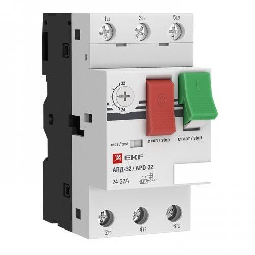 Выключатель авт. защиты двиг. АПД-32 24-32А EKF apd2-24-32