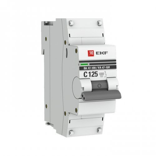 Выключатель автоматический модульный 1п C 80А 10кА ВА 47-100 PROxima EKF mcb47100-1-80C-pro