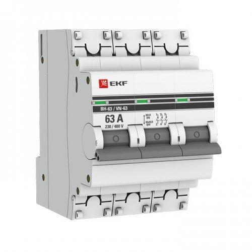 Выключатель нагрузки 3п 63А ВН-63 PROxima EKF SL63-3-63-pro