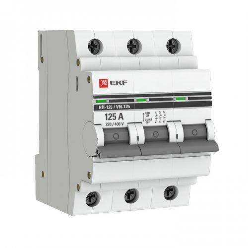 Выключатель нагрузки 3п 100А ВН-125 PROxima EKF SL125-3-100-pro