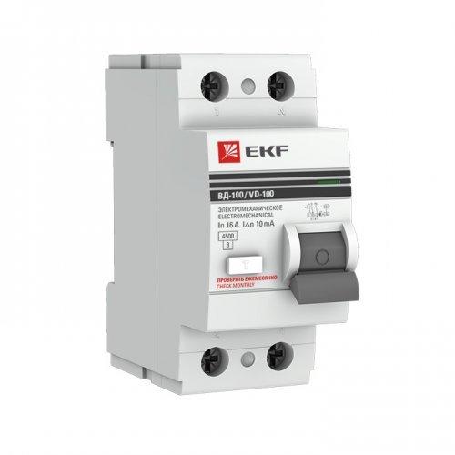 Выключатель дифференциального тока (УЗО) 2п 16А 30мА АС EKF PROxima