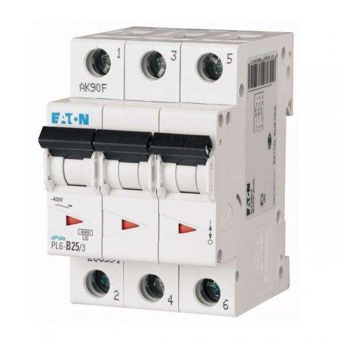Выключатель автоматический модульный 3п C 25А 6кА PL6-C25/3 EATON 286603