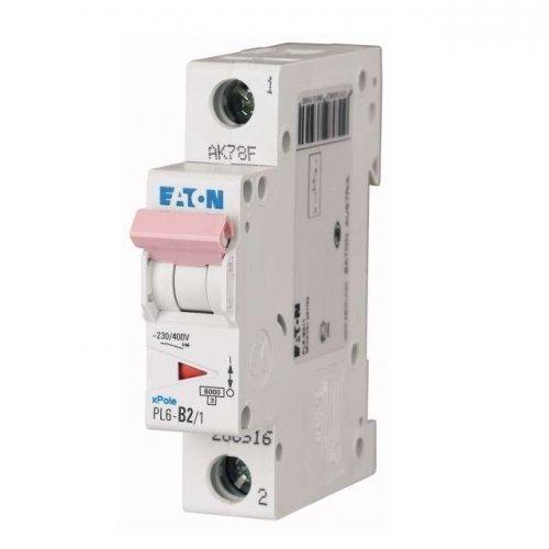 Выключатель автоматический модульный 1п C 2А 6кА PL6-C2/1 EATON 286528