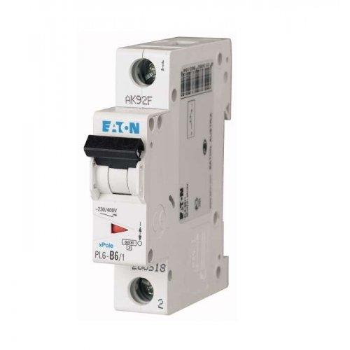 Выключатель автоматический модульный 1п C 6А 6кА PL6-C6/1 EATON 286530
