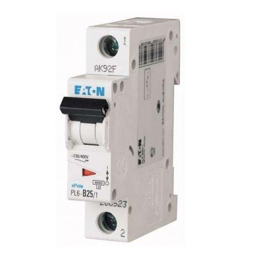 Выключатель автоматический модульный 1п C 25А 6кА PL6-C25/1 EATON 286535