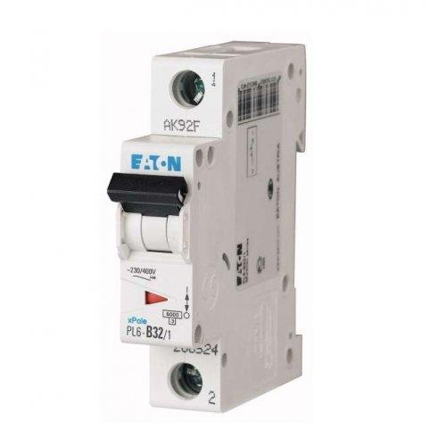 Выключатель автоматический модульный 1п C 32А 6кА PL6-C32/1 EATON 286536