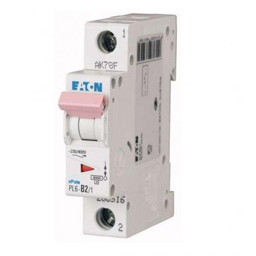 Выключатель автоматический модульный 1п C 16А 6кА PL6-C16/1 EATON 286533