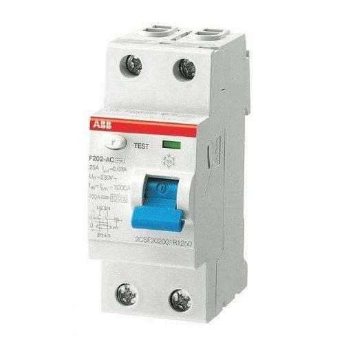 Выключатель дифференциального тока (УЗО) 2п 25А 30мА F202 АС