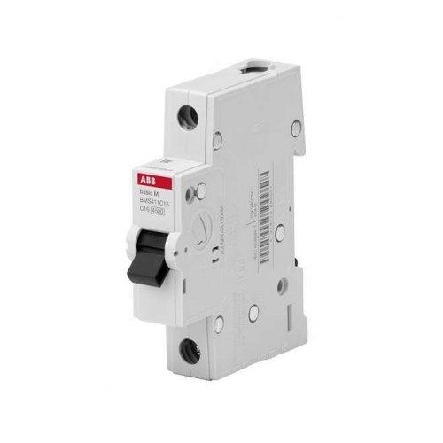 Выключатель автоматический модульный 1п C 16А 4.5кА Basic M BMS411C16 ABB 2CDS641041R0164