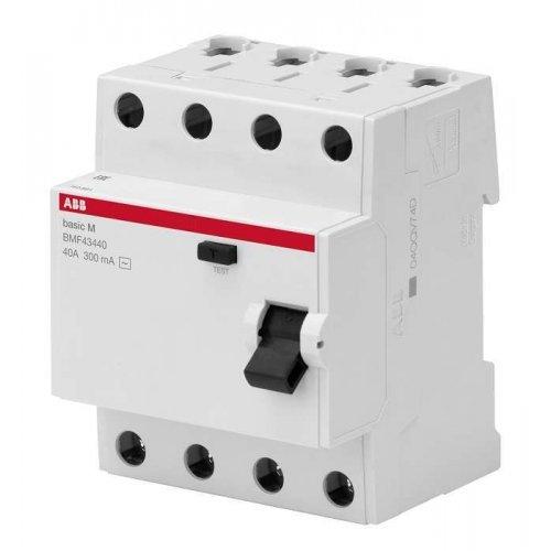 Выключатель диф. тока 4п 40А 30мА тип AC Basic M BMF41440 ABB 2CSF604041R1400