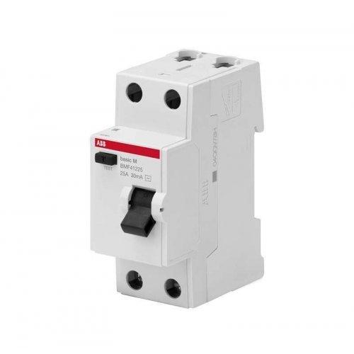 Выключатель диф. тока 2п 63А 30мА тип AC Basic M BMF41263 ABB 2CSF602041R1630