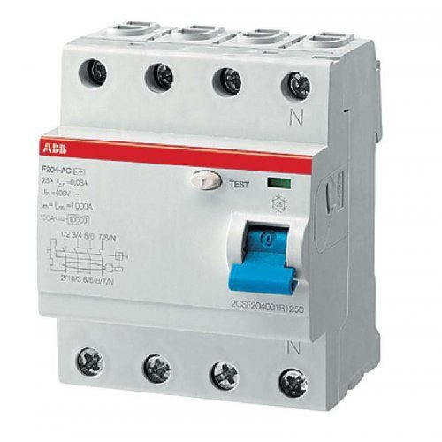 Выключатель дифференциального тока (УЗО) 4п 40А 100мА F204 АС
