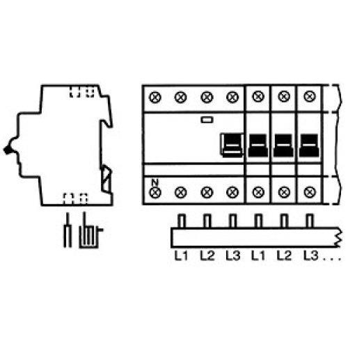 Шина комплектная 3ф 60 модулей 63А PS3/60