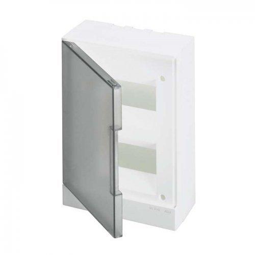 Бокс настенный Basic E 16М сер. прозр. дверь (с клемм) ABB 1SZR004002A2205