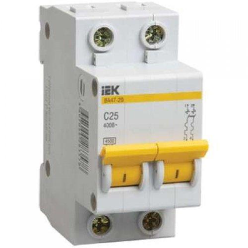 Выключатель автоматический модульный 2п C 32А 4.5кА ВА47-29 ИЭК MVA20-2-032-C