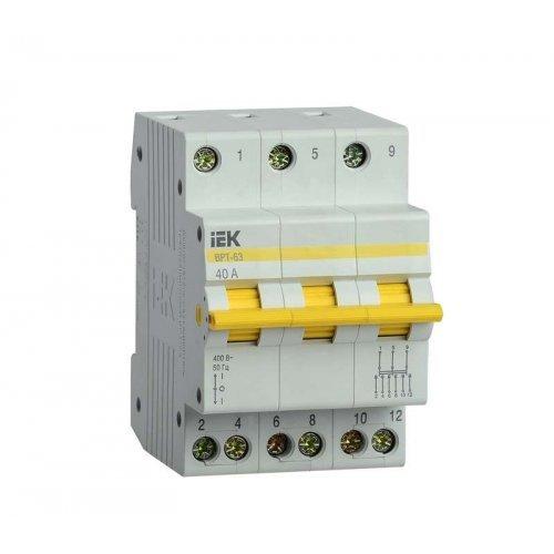 Выключатель-разъединитель трехпозиционный 3п ВРТ-63 40А ИЭК MPR10-3-040