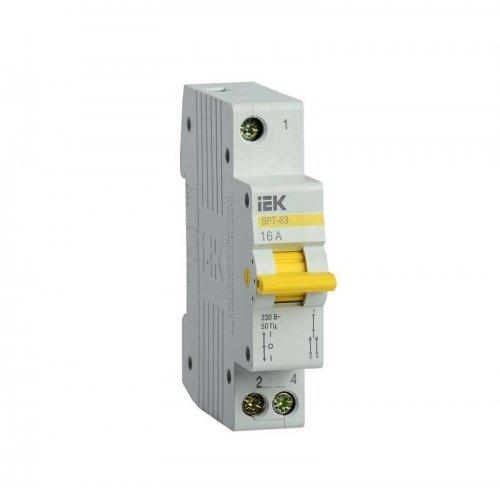 Выключатель-разъединитель трехпозиционный 1п ВРТ-63 16А ИЭК MPR10-1-016