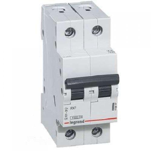 Выключатель автоматический двухполюсный RX3 4,5 кА C 10 А