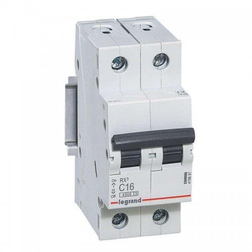 Выключатель автоматический двухполюсный RX3 4,5 кА C 16 А