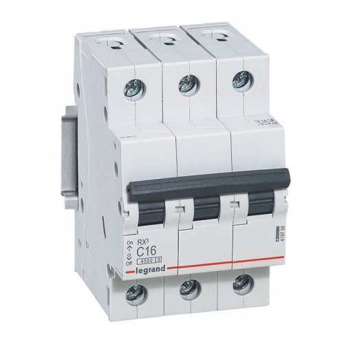 Выключатель автоматический трехполюсный RX3 4,5 кА C 16 А