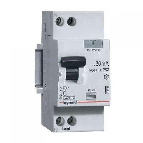 АВДТ RX3 6000 - 6 кА - тип характеристики С - 1П+Н - 230 В~ - 25 А - тип AС - 30 мА - 2 модуля