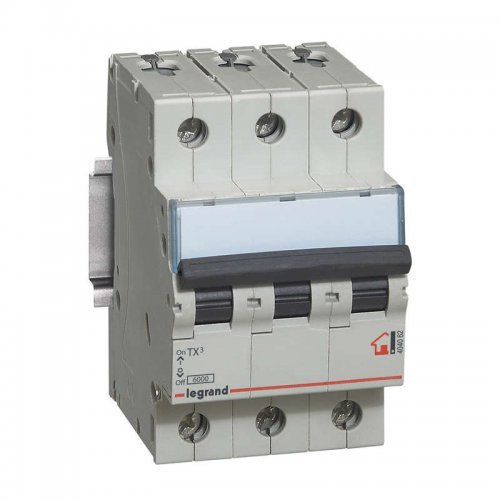 Выключатель автоматический модульный 3п C 25А 6кА TX3 6000 3мод. 400В Leg 404058