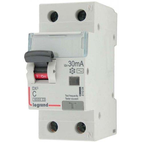 Выключатель автоматический дифференциального тока 2п (1P+N) C 25А 30мА тип AC 6кА DX3 2мод. Leg 411004