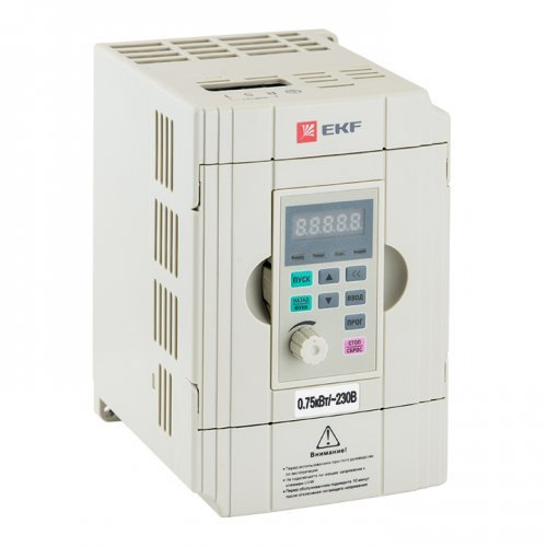 Преобразователь частоты 0.75/1.5кВт 1х230В VECTOR-100 PROxima EKF VT100-0R7-1B