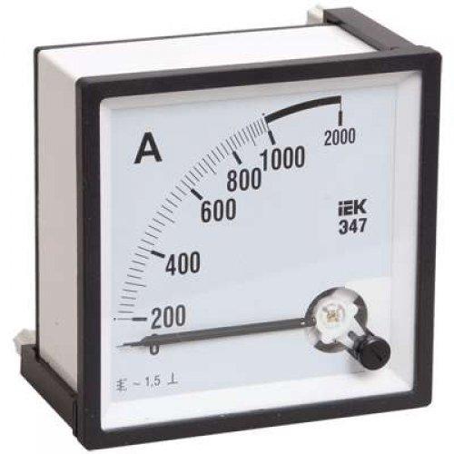 Амперметр Э47 72х72мм 200/5А кл. точн. 1.5 ИЭК IPA10-6-0200-E