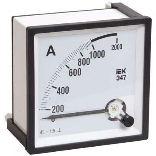 Амперметр Э47 72х72мм 150/5А кл. точн. 1.5 ИЭК IPA10-6-0150-E