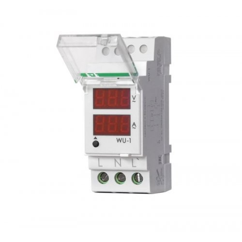 Указатель напряжения и тока WU-1 (однофазный; 0.5-63А 24-250В 40-60Гц 2 модуля; монтаж на DIN-рейке) F&F EA04.011.007